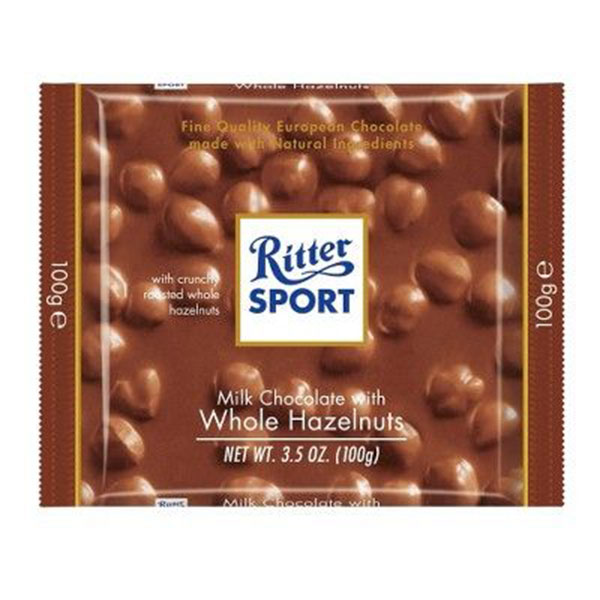 RITTER SPORT牛奶巧克力配整个榛子棒