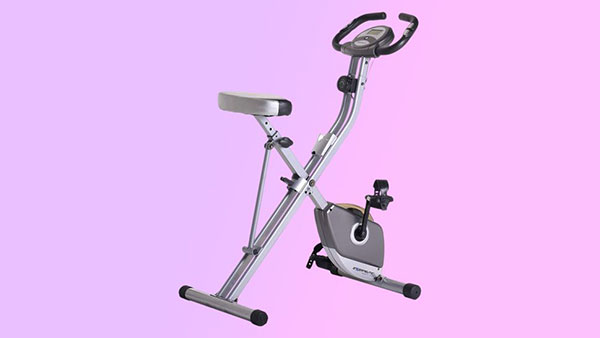 运动折叠式磁性立式健身车