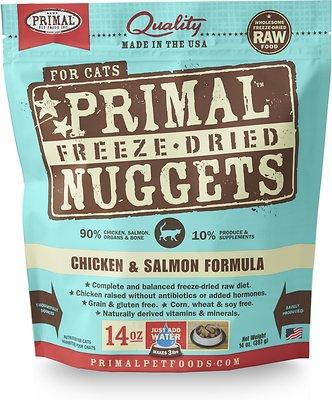 Primal Pet Foods鸡肉和鲑鱼冻干猫粮