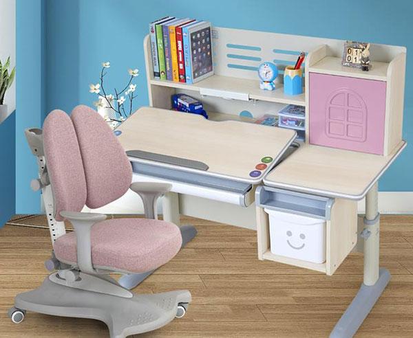 生活诚品 实木儿童学习桌椅套装