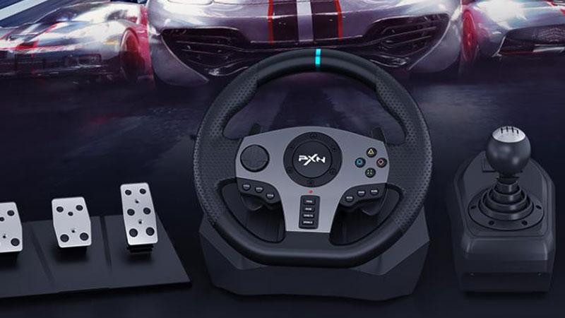 莱仕达PXN-V9游戏方向盘怎么样?兼容PC/PS/XBOX/Switch